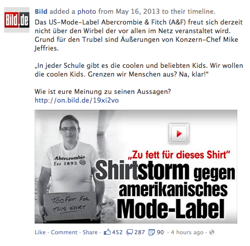 Tshirt Storm against Abercrombie