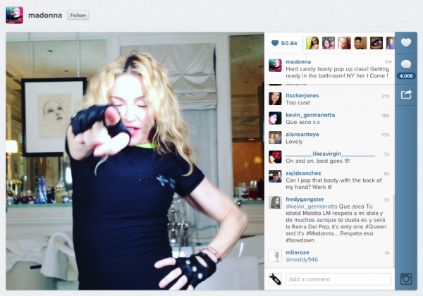 Instagram Video Madonna