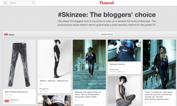 Example if Pinterest profile